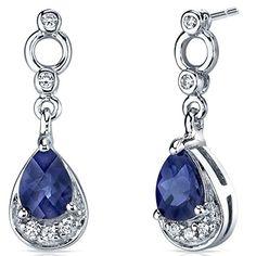 Simply Classy 2.00 Carats Created Blue Sapphire Dangle Earrings in Sterling Silver Peora http://www.amazon.com/dp/B004VFJTBG/ref=cm_sw_r_pi_dp_J7Chvb18CF9XP