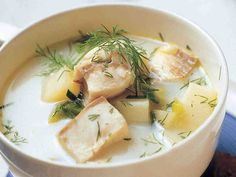 Helppo kalakeitto Hygge, Dinner, Ethnic Recipes, Finland, Dining, Food Dinners, Dinners