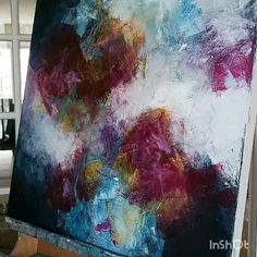 Getting unstuck and painting with energy and flow. Abstract Painting Techniques, Painting Process, Art Techniques, Process Art, Painting Tutorials, Contemporary Abstract Art, Modern Art, Architecture Drawing Art, Abstract Canvas