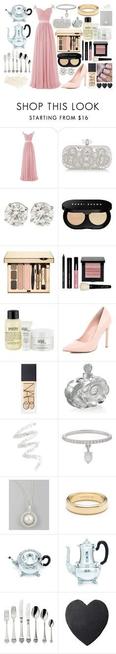 """Royal Tea Time"" by imscrewed ❤ liked on Polyvore featuring Marchesa, Bobbi Brown Cosmetics, Clarins, philosophy, River Island, NARS Cosmetics, Lalique, Topshop, Cynthia Rowley and Finn"