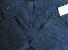 JM Collection Blue Indigo Wash Color Pants Size 18 Hidden Elastic Waistband   eBay