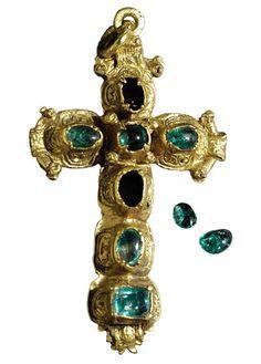 Cruz de oro que puede que fuera un regalo a Isabel de Farnesio, Naufragio del Ntra. Sra. de Atocha 1622