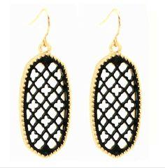 NEW! Southern Style Quarterfoil Filigree Design Earrings