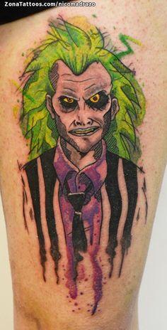 Tatuaje hecho por Nicolás Madrazo de Salta (Argentina). Si quieres ponerte en contacto con él para un tatuaje/diseño o ver más trabajos suyos visita su perfil: https://www.zonatattoos.com/nicomadrazo  Si quieres ver más tatuajes de beetlejuice visita este otro enlace: https://www.zonatattoos.com/tag/1938/tatuajes-de-beetlejuice  Más sobre la foto: https://www.zonatattoos.com/tatuaje.php?tatuaje=109392