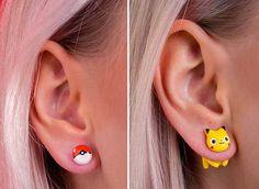 Cats and Pop Culture: a Sooo Cute Cat Earrings Collection by Rita aka Catmadecom #jewelry #cats #earrings #handmade #polymerclay #kawaii #catmadecom #cute