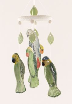 pictures of wind chimes | Parrots Clay Wind Chime