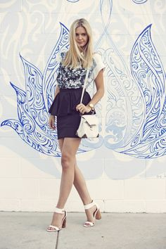 black peplum skirt from Asos paired with an amazing Alexander Wang top on Tuula  http://www.creativeboysclub.com/