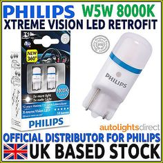 #Philips xtreme vision 360 led w5w t10 8000k led car bulbs #(twin #pack),  View more on the LINK: 	http://www.zeppy.io/product/gb/2/262011965411/