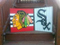 Custom Chicago blackhack and Chicago White Sox Hand Painted on canvas art.