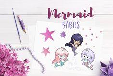 Mermaid Babies Illustrations by Teneresa on @creativemarket