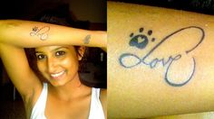 #Paw & #infinity love and heart #tattoo