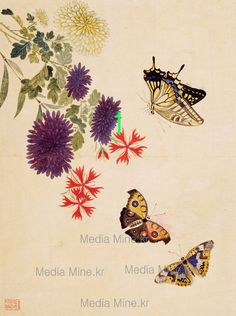 Asian Antique Painting of Butterfly-Art Deco Print(BUY 2 GET 1 FREE!)-11 #Handmade #Asian