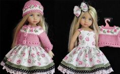 DRESS-SWEATER-HAT-BOOTS-SET-MADE-FOR-EFFNER-LITTLE-DARLING-SIMILAR-SIZE-13-DOLL