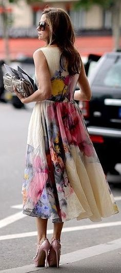 Wedding Guest Floral Dress #Fashionistas