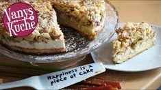 Rhabarber-Streusel-Kuchen - Thermomix® - Rezept von Vanys Küche Philadelphia Torte, Piece Of Cakes, Banana Bread, French Toast, Breakfast, Desserts, Food, Youtube, Vanilla Cream