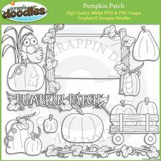 Pumpkin Patch Line Art Download