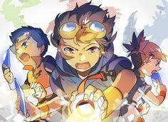 Digimon Tamers - Rika, Takato & Henry