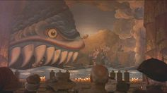 Fish in Baron Munchausen
