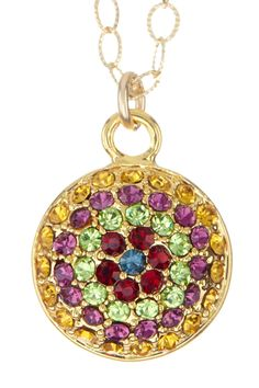 Daze Multicolor Crystal Pave Pendant Necklace ♥.  Za!!