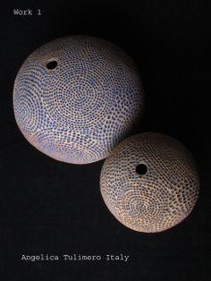 """""""Forma1-Forma2"""" 2006, stoneware, glaze, 1260°C Angelica Tulimiero"""
