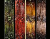Original Textured Abstract painting Contemporary Multipanel Fine Art by Henry Parsinia Large 36x32