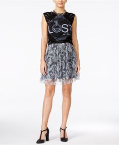 Alice Through The Looking Glass Juniors' Graphic Tank Top & Tulle A-Line Skirt - Juniors - Macy's