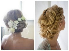 vintage romantic wedding hair