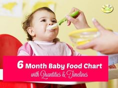 Indian 6 Month Baby food chart, along with a collection of Indian baby food recipes, Indian feeding Guidelines Chart, food timetable for 6 month old baby Baby First Food Chart, Baby First Foods, Baby Chart, 6 Month Baby Food, 8 Month Old Baby, 6 Month Old Food, Baby Meal Plan, Indian Baby Food Recipes, Recipe For 6