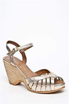 Silver chunky heels
