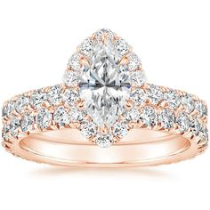 Marquise Cut, Halo Diamond Engagement Ring with a Carat Diamond - The Estelle in Rose Gold (Setting Price) Engagement Sets, Engagement Ring Styles, Halo Diamond Engagement Ring, Designer Engagement Rings, Marquise Cut Diamond Ring, Diamond Promise Rings, Eternity Ring, Rose Gold, Diamonds