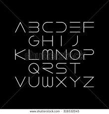 Thin Font Futuristic Font Cosmi Font - Shutterstock