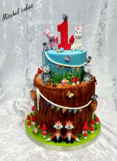 So zvieratkami, Torty pre deti, cakes for kids, Autorka: Mischel cakes, Tortyodmamy.sk