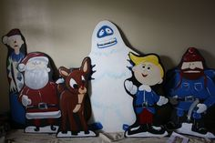 Rudolph the Red Nose Reindeer - Wood Cutouts by HolidayLawnCutouts on Etsy