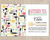 Printable Custom Kitchen Tea/Bridal Shower Invitation - Pots & Pans