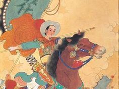 Hua Mulan (386-557) Chinese warrior during the Wei Dynasty, practitioner of martial arts
