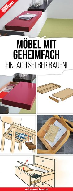 Simply build furniture with a secret compartment yourself! - In these furniture with secret compartment can hide super valuables. The construction instructions - Farmhouse Bedroom Decor, Farmhouse Style Decorating, Diy Furniture Projects, Wood Projects, Design Palette, Secret Compartment, Entrance Design, Box Houses, Secret Rooms