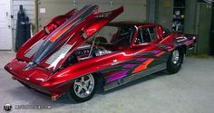 candy paint chevy cars | Photo of a 1967 Chevrolet Corvette (bad vette)