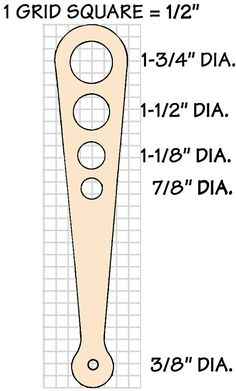 Spaghetti Measure Template: print out on card stock, cut out holes and keep in the kitchen (7/8 = 1 serving, 1 1/8 = 2 servings and so on)