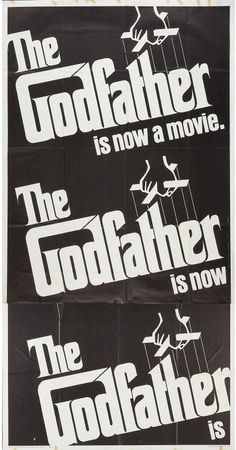 The Godfather 1972 US Three sheet 41x81 by rearwindowposters