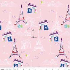 Riley Blake Designs - Pepe in Paris - Main in Pink