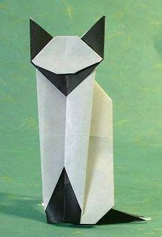 origami Siamese cat,