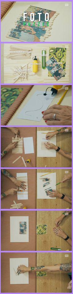 DIY - foto puzzle fai da con le bacchette dei gelati  scoprite come realizzarlo anche su: www.rsi.ch/kiwi https://www.facebook.com/RSIvuoiqueikiwi/ https://www.youtube.com/channel/UCY-Ge3XwDLKSweZ6gJzwQaA