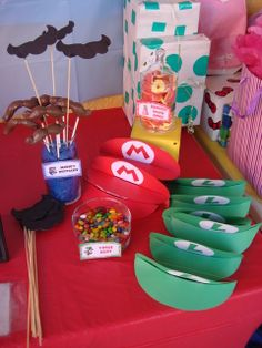 super mario bros party ideas diy | Super Mario Brothers / Birthday / Party Favors: Hand made Mario ...