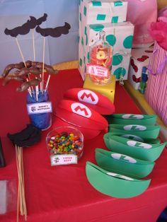 super mario bros party ideas diy | Super Mario Brothers / Birthday / Party Favors: Hand made Mario ...