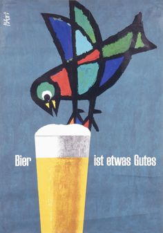 German beer poster from the sixties 'Bier ist etwas Gutes', archives DBB