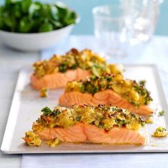 Crispy crusted salmon