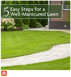 Learn how to take care of your lawn with five easy-to-follow steps in this spring lawn care guide.