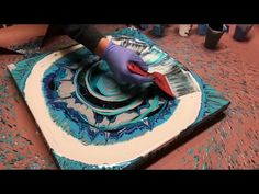 Fluid Painting Acrylic Spin Pour!! See description recipe. Please Share!! Re-Upload.. Wigglz Art - YouTube