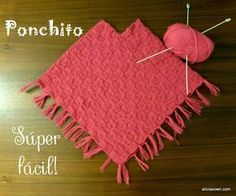 Visita la entrada para saber más Crochet Girls, Love Crochet, Beautiful Crochet, Crochet Baby, Crochet Poncho Patterns, Knitted Poncho, Crochet Shawl, Knit Baby Dress, Knitted Baby Clothes