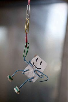 Your new friends won't talk back or annoy you - they'll just hang.   11 Clever & (sometimes) Useful Office DIYs